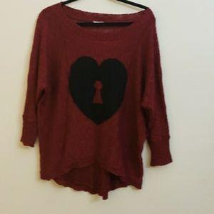 Burgundy sweater size Xl